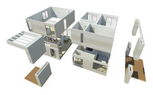 Modelo de casa modular Preforma Nro. 2