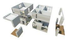 Desarrollo proyecto arquitectura BIM casas modulares