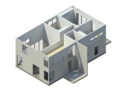 Modelo de casa modular Preforma Nro. 2 de 168 mt2