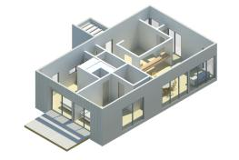 Modelo de casa modular Preforma Nro. 2 de 84 mt2