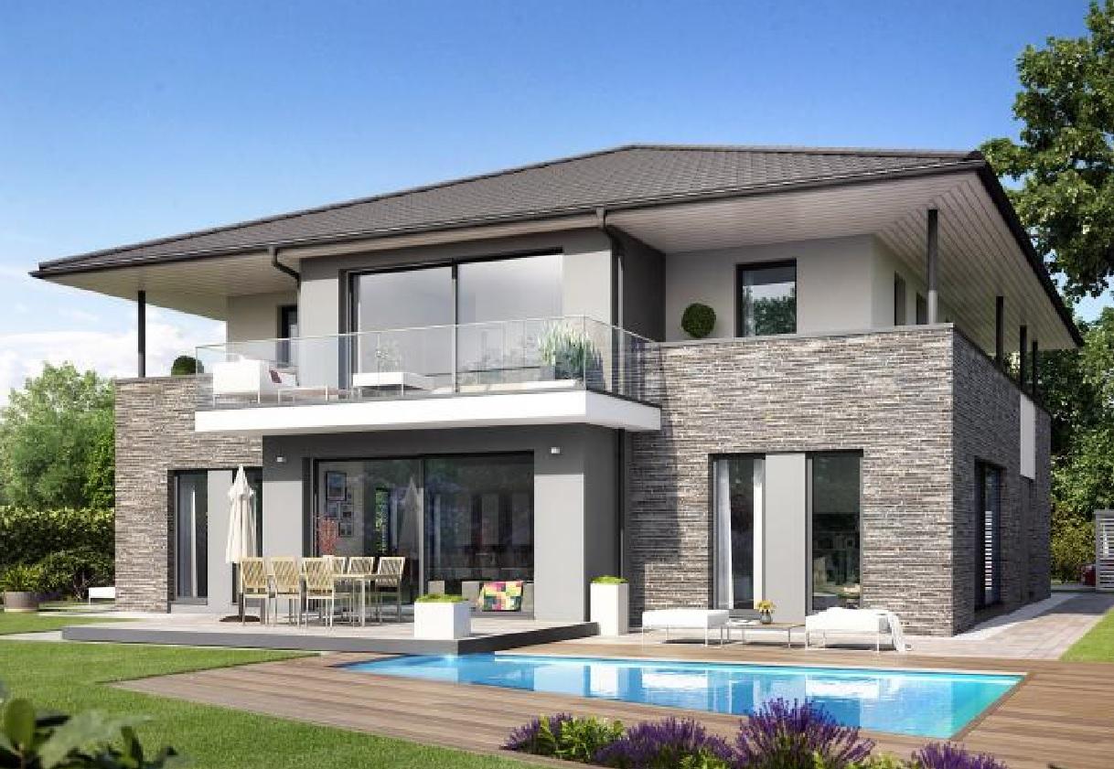 Modelo de casa moderna inshare with modelo de casa - Modelos de casas modernas ...